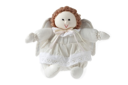 Image of angel doll isolated on white background photo