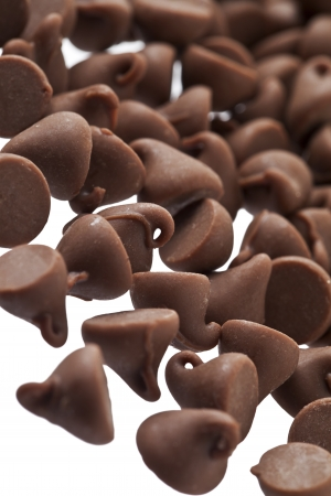 morsels: Chocolate chips in a macro image