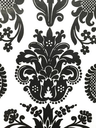 islamic pattern: Illustration of black and white abstract wallpaper close up view