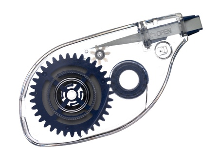 Afbeelding van correctie tape roller geïsoleerd op witte achtergrond