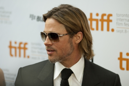 fanfare: Brad Pitt Hits the red carpet at the 2011 International Film Festival for the screening of his latest movie Moneyball Editorial