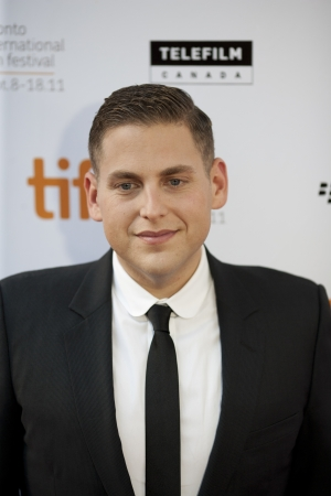 Jonah Hill steps onto the red carpet at the 2011 Toronto International Film Festival on September 9th, 2011 for the screening of Moneyball