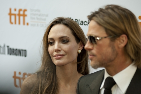 Brad and Angelina grace the red carpet together at the 2011 Toronto International Film Festival en route to the screening of Brad's movie Moneyball