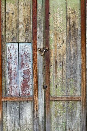 Close up image of old wooden door photo
