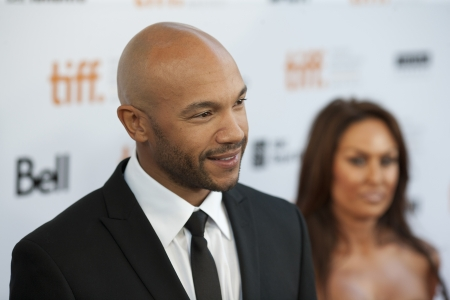Actor Stephen Bishop poses for pictures at the 2011 Toronto International Film Festival on his way to the screening of Moneyball Stock Photo - 17202118