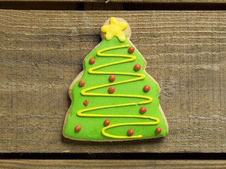 Gember brood in een kerstboom koekje
