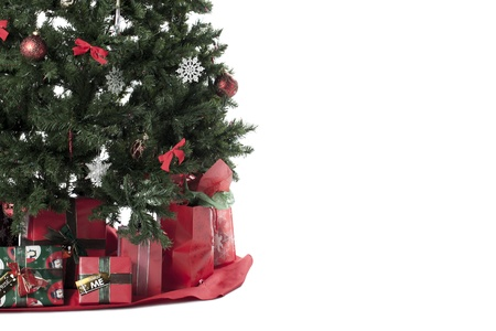 Cropped image of Christmas tree surrounded by gifts Stock Photo - 17189713