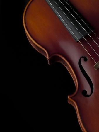 musica clasica: Primer plano recortada disparo de traste de un violín de madera.