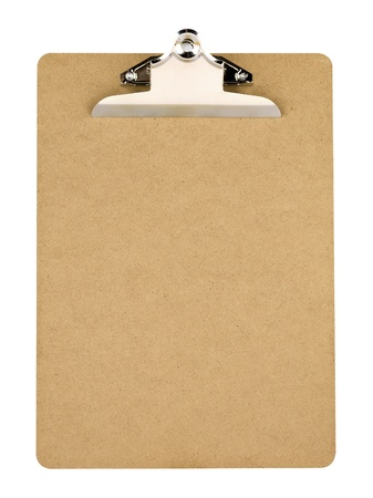 Empty clip board with metal clip photo