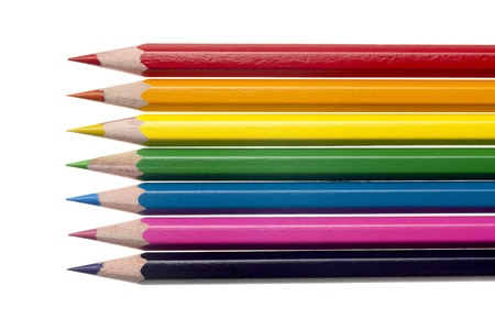 Group of Coloured pencil in a horizontal image