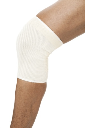Knee sleeve on a human leg Stock Photo - 17186778