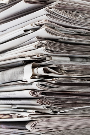 Detailed image of a stack of old newspaper for recycling. Stock Photo - 17209617