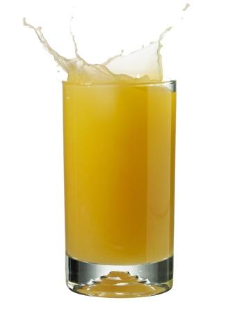 Refreshing glass of orange juice