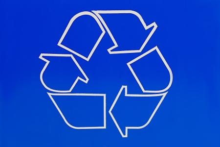 Illustration of a recycling symbol. illustration