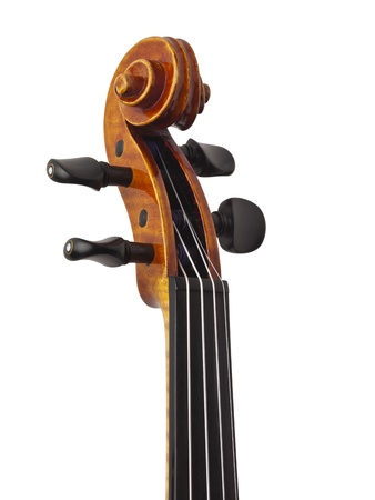 fiddles: Closed up neck of a classical violin