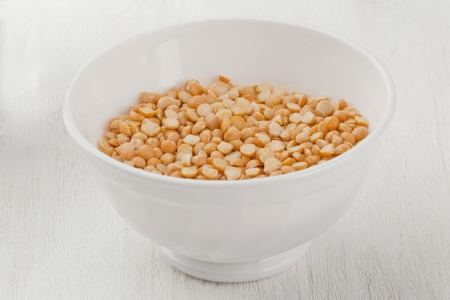 A bowl of Yellow Lentil kernel photo