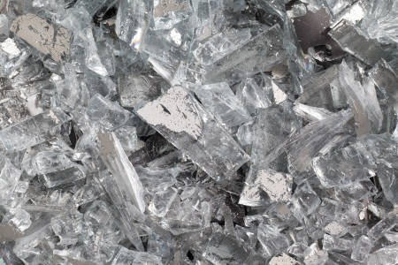 gr: Close-up image of piece of glass of a smashed television. Stock Photo