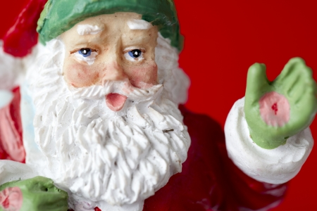 Detailed shot of a Santa Claus statue. Stock Photo - 17189306