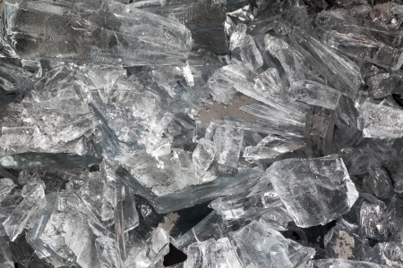 Shattered glass in a macro image Stock Photo - 17210497