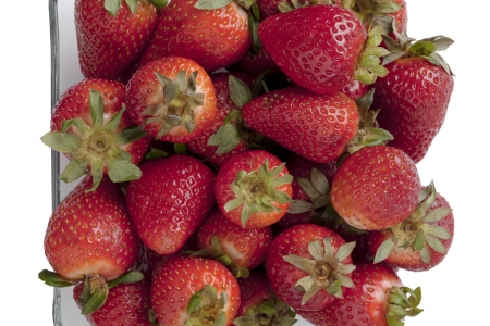 Strawberry fruits on dish in a close-up image Stock Photo - 17208131