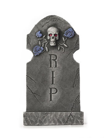 digitally generated image: Digitally generated image of a tombstone.