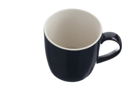 View of a coffee mug displayed over white background. photo