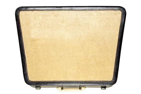 Vintage attache case isolated on a white background photo
