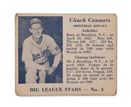 royals: Vintage Chuck Connors baseball card Montreal Royals Infielder