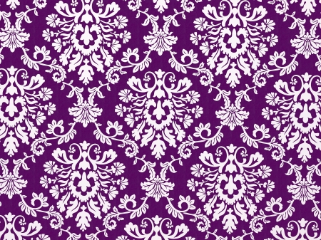 Illustration of detailed and decorative violet wallpaper Stock Photo