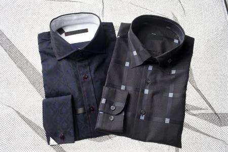 Image of properly folded men's shirt isolated on a background Stock Photo - 17230666