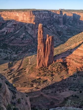 rock formation: Scenic shot of tall rock formation.