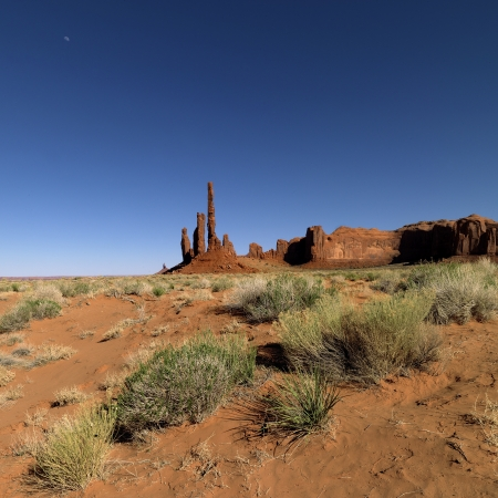 Totem Pole Rock with clear blue sky in the background. Stock Photo - 17230228