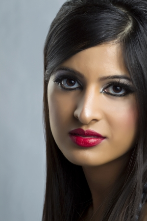 A photo of an Indian Model on a close up image Stock Photo - 17244730
