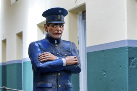 Detailed shot of a male statue wearing uniform. Stock Photo - 17229053