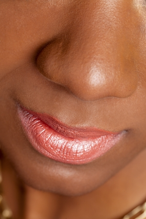 Cropped close-up image of a female fashion models face, samara Powder Stock Photo - 17244749
