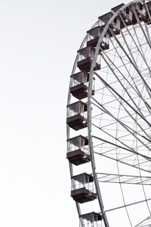 Low angle image of ferris wheel against clear sky. photo