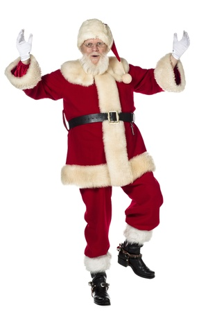 merry dancers: Dancing Santa Claus with racing his hand and left foot