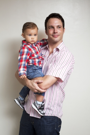 Portrait of happy father with his baby boy Stock Photo - 17244756