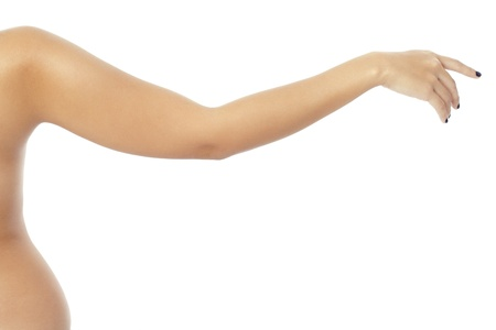 Naked woman's arm on white background Stock Photo - 17244922