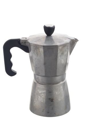 Image of a Italian coffee maker isolated over white background. photo