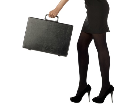 Low angle shot of a businesswoman holding a briefcase photo