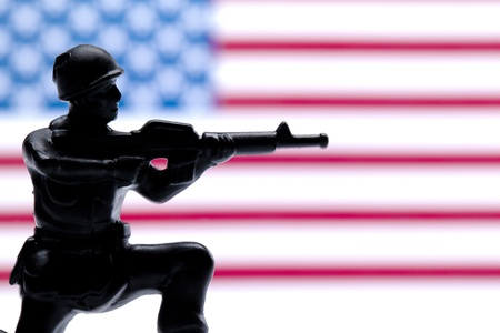 Close up image of american military  toy soldiers Stock Photo - 17251271