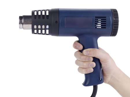 butane: Close up image of blow torch against white background