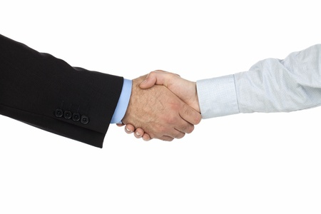 Close-up shot of a businessmen handshake Stock Photo - 17251264