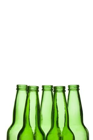 Illustration of green plastic bottles in a white background Stock Illustration - 17251176