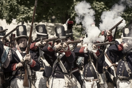War of 1812 Reenactment of USA and Canada Stock Photo - 17261929