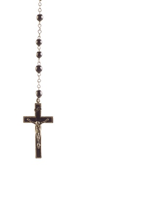 Rosary in a vertical image