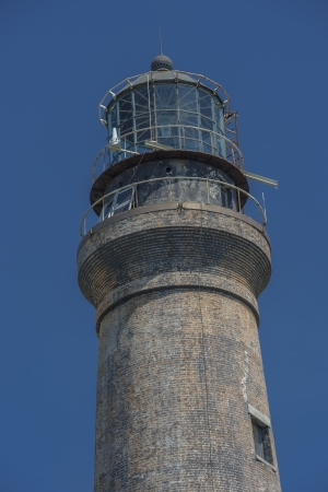 dry tortugas: Closed up shot of the old Dry Tortugas lighthouse on Loggerhead Key