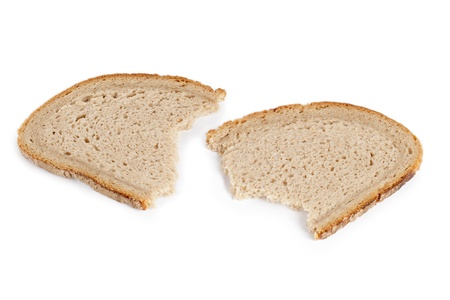 One sliced and broken loaf of bread Stock Photo - 17251236