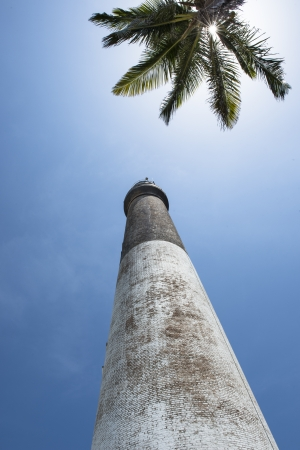 dry tortugas: Close-up image of a lighthouse of Dry Tortugas under the blue sky